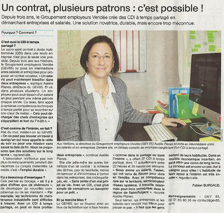 Témoignage du Groupement Employeurs Vendée GEV85