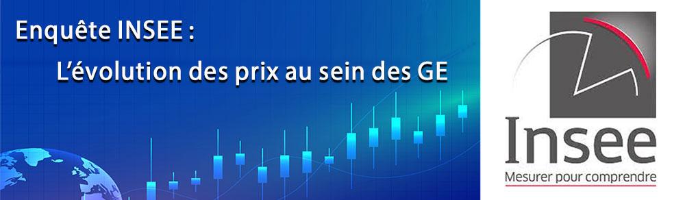 Enquete INSEE aupres des GE sur evolution des prix